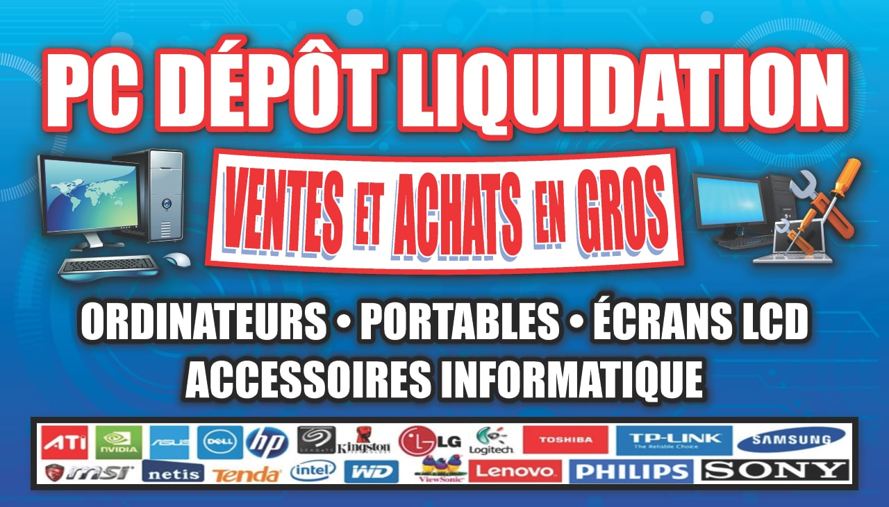 ordinateurs usagés used computers pc dépôt liquidation